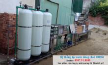 Hệ thống lọc nước  RO công suất 1000 lít/h đóng chai 95 triệu