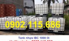 Tank nhựa 1000L, tank IBC 1000L, tank IBC, tank nhựa IBC