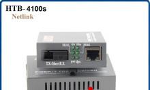 Bộ chuyển đổi 1 sợi Converter quang điện Netlink HTB-4100AB loại 10/10