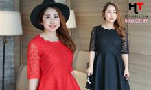 Shop quần áo bigsize công sở HT-Fashion - Váy đầm công sở người mập