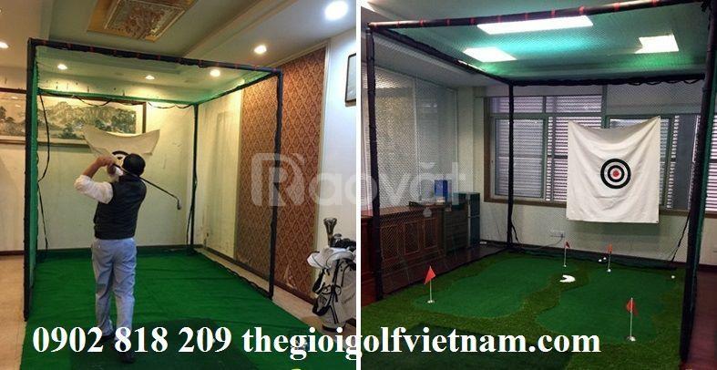 Lồng tập golf tại nhà tặng kèm thảm swing