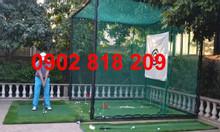 Khung lưới tập golf tặng kèm thảm phát banh