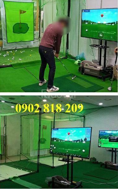 Thiết bị chơi golf 3d mini kết hợp lưới tập golf