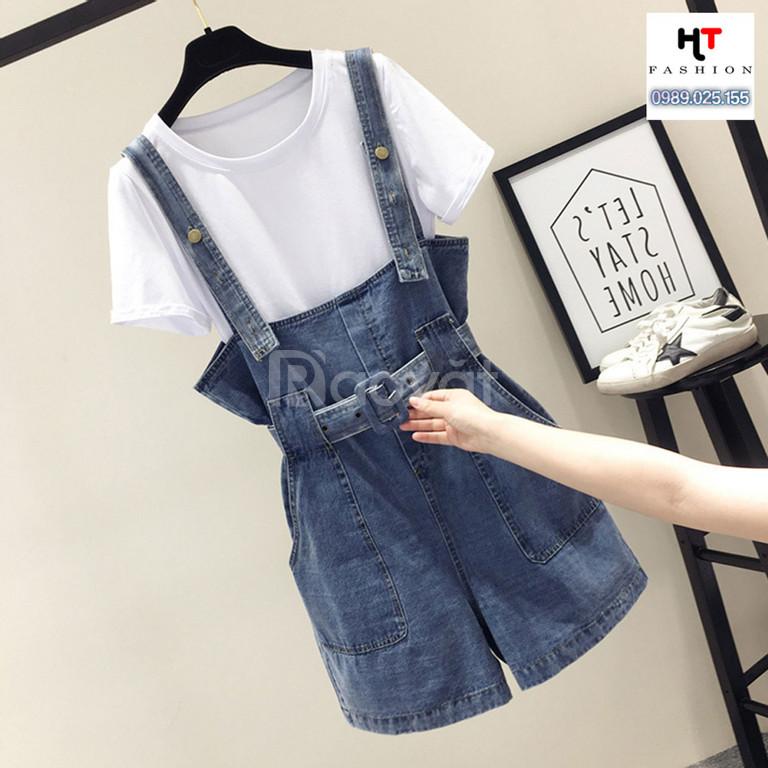 Thời trang big size HT-Fashion - Quần yếm jean big size