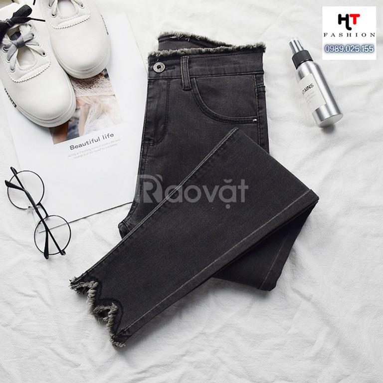 Thời trang big size HT-Fashion - Quần jean dài bigsize nữ