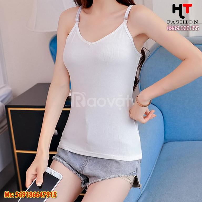 Quần áo bigsize HT-Fashion - Áo phông 2 dây hè bigsize