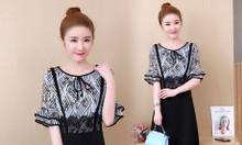 Váy đầm big size HT-Fashion - Váy đầm hoa dành cho người béo lùn