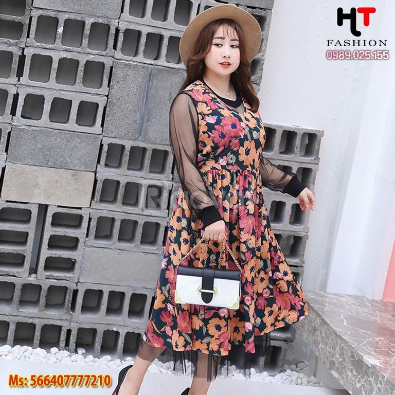 Shop big size HT-Fashion - Váy hoa bigsize mùa hè