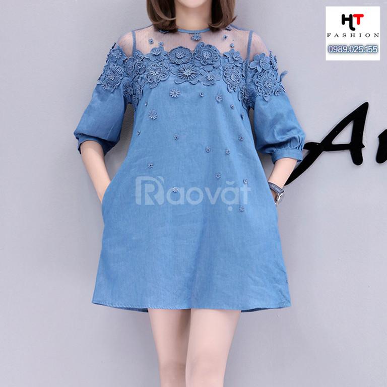 Thời trang big size HT-Fashion - Váy đầm suông dành cho người béo mập