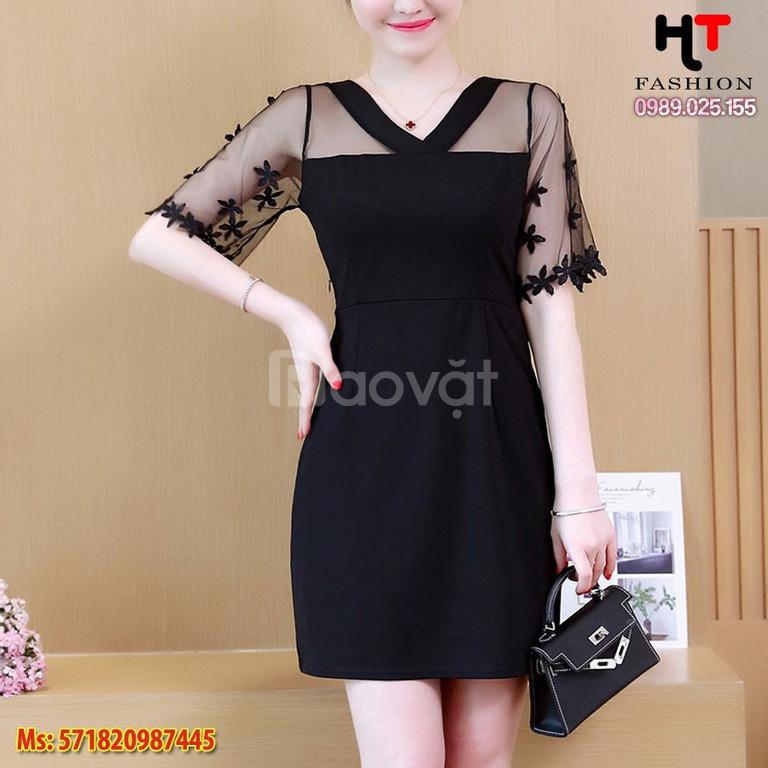 Váy đầm bigsize HT-Fashion - Váy đầm trung niên cao cấp