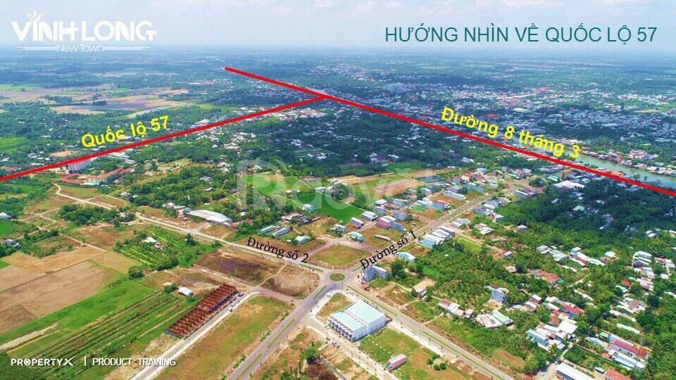 Vĩnh Long New Town, đất sổ đỏ TP Vĩnh Long, mặt tiền 30m, sát sông