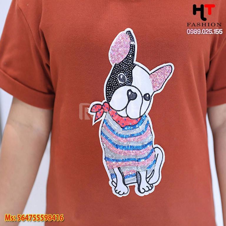 Quần áo bigsize HT-Fashion - Áo thun cún mặt xệ bigsize