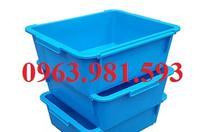 Thùng nhựa đặc có nắp đậy, thùng đựng đồ cơ khí, hộp nhựa công nghiệp