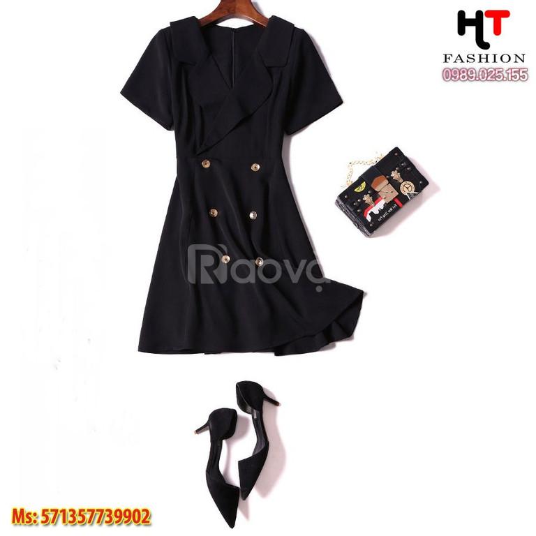Váy đầm bigsize HT-Fashion - Đầm dự tiệc cho người mập bụng