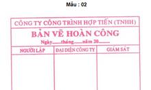 Khắc dấu hoàn công tại Hà Nội