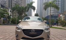 Bán Mazda2 1.5AT màu vàng cát 2017