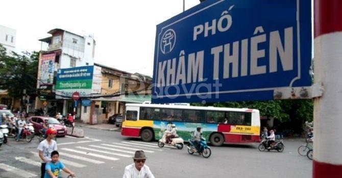 Bán nhà mặt phố Khâm Thiên