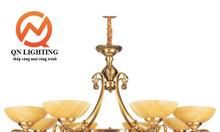 Đèn chùm đồng Bát Tràng BAVIA QN-HT930