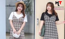 Shop váy đầm bigsize HT-Fashion - Váy yếm dành cho người béo mập