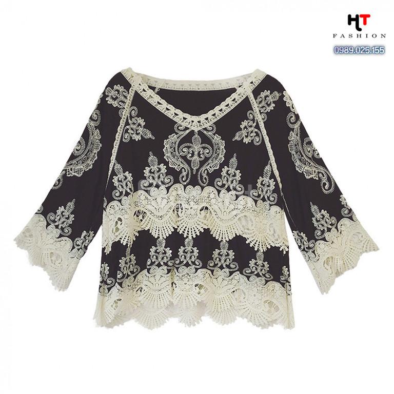 Quần áo bigsize HT-Fashion - Áo sơ mi kiểu công sở bigsize