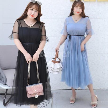 Shop váy đầm bigsize HT-Fashion - Váy đầm dực tiệc trung niên