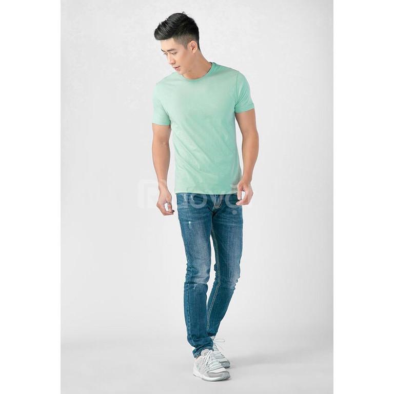 Áo thun nam cao cấp 100% cotton màu bạc hà