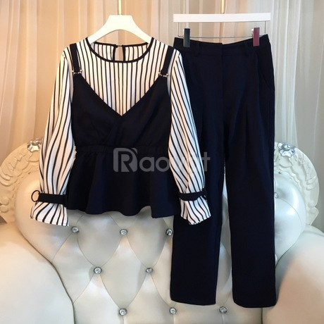 Shop bigsize HT-Fashion - Set đồ bộ công sở nữ bigsize