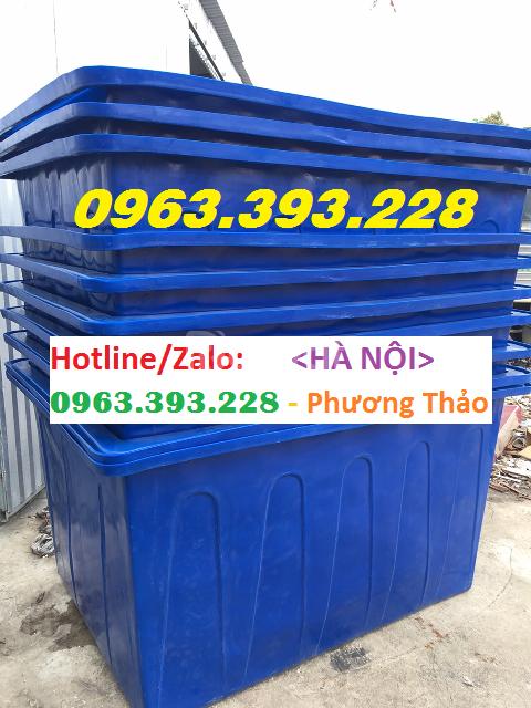 Cung cấp thùng nhựa chữ nhật dung tích lớn, thùng nhựa nuôi cá