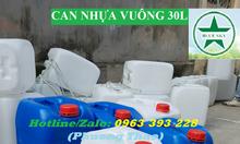 Can nhựa vuông 30L, can nhựa giá rẻ tại Hà Nội