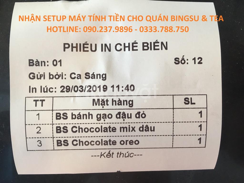Lắp đặt máy tính tiền dùng cho quán trà sữa tại Đồng Nai