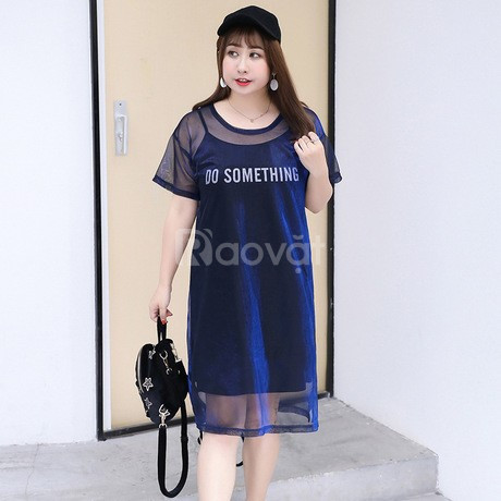 [Big size HT-Fashion] Váy đầm cho người mập bụng ở Hà Nội