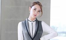 Nhận thiết kế, gia công đồng phục áo gile nữ theo yêu cầu