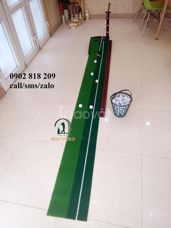Thảm tập golf gỗ, thảm putting green gỗ