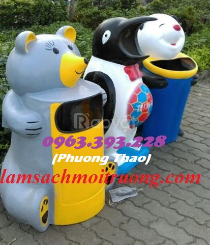 Thùng rác hình thú vui nhộn, thùng rác các loại giá tốt tại Hà Nội