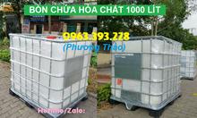 Cung cấp bồn chứa hóa chất 1000L, thùng nhựa 1 khối đựng hóa chất