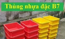 Thùng nhựa đặc B7, hộp nhựa đặc cao cấp tại Hà Nội