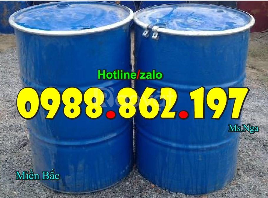 Thùng phuy cũ giá rẻ, thùng phuy 220l, thùng phuy sắt cũ nắp kín