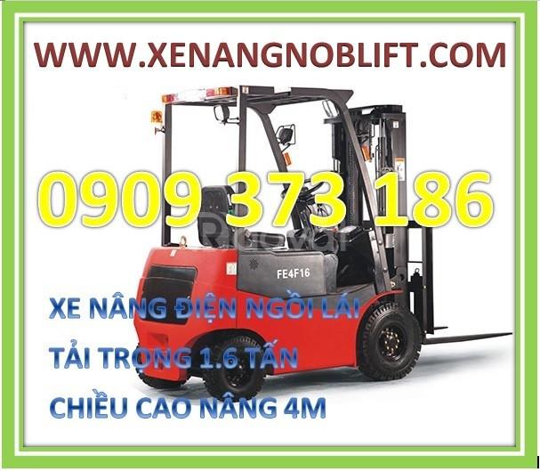 Xe nâng điện ngồi lái noblelift 1600kg cao 3m,4m,5m