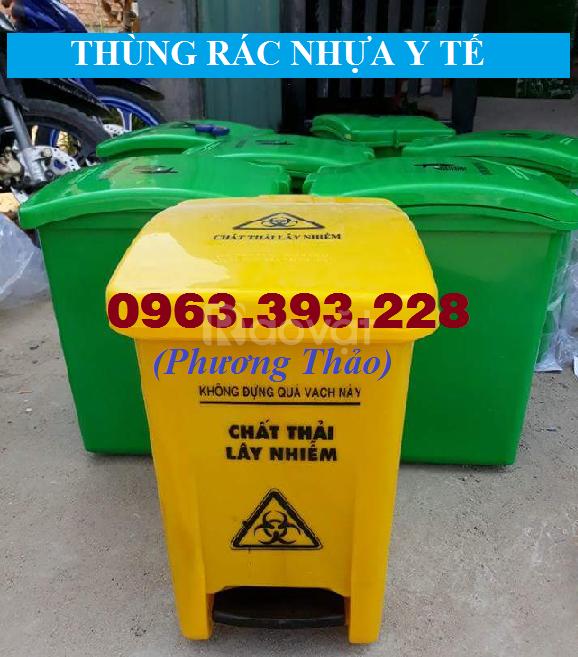 Thùng rác y tế, thùng rác chứa chất thải, thùng rác nhựa công nghiệp