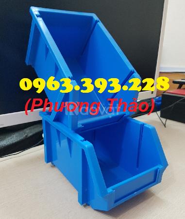 Khay nhựa đựng linh kiện xếp chồng, hộp nhựa A6