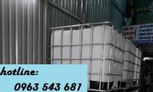 Bồn nhựa vuông trắng IBC 1000 lít đựng phụ gia thực phẩm