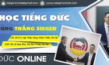 Tiếng Đức Online Sieger tuyển sinh lớp học mới tháng 5/2019.