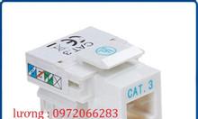 Nhân điện thoại RJ11 Cat3 commscope mã 1375192-1