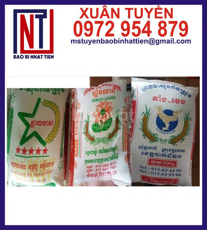 Bao đựng gạo 50kg, chuyên cung cấp bao PP dệt đựng gạo
