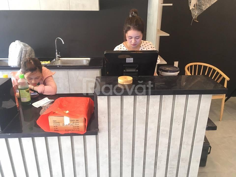 Bán máy tính tiền cảm ứng trọn bộ cho quán trà sữa tại Vĩnh Phúc