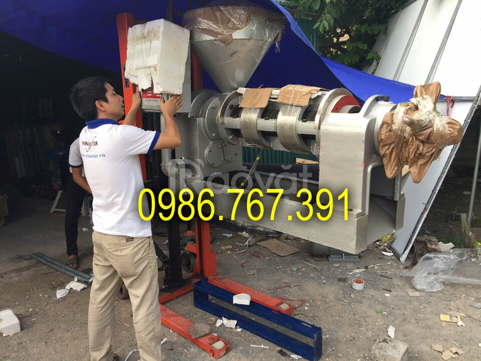 Máy ép dầu lạc công nghiệp Guangxin YZYX95WK ép 70-80 kg/h