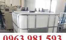 Thùng đựng hóa chất, thùng chứa dung môi công nghiệp, bồn chứa 1000l.