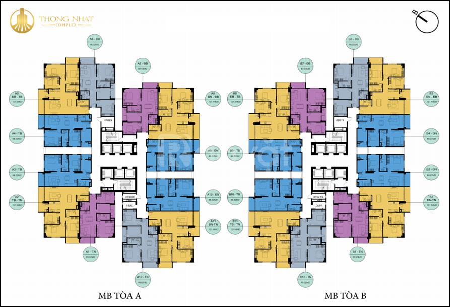Thống Nhất Complex không còn nhiều nhanh tay để được chọn căn tầng đẹp