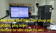 Cài đặt máy tính tiền giá rẻ cho cửa hàng phụ kiện, shop lưu niệm
