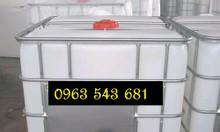 Bồn nhựa 1000 lít đựng hóa chất, thùng cũ 1000 lít